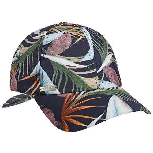 Seeberger Licana Leaves Cap Damencap Sommercap Baseballcap Stoffcap (One Size - dunkelblau)