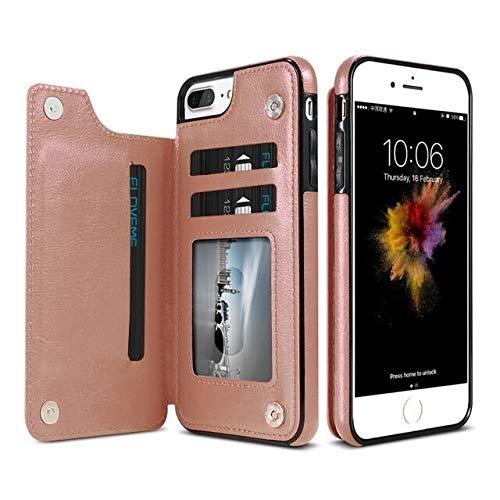 SGJFZD Funda protectora de cuero para iPhone XR Business horizontal Flip Funda de cuero con tarjetero y ranuras (color oro rosa)