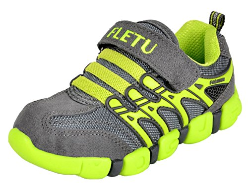 DADAWEN Boy's Girl's Trainers Outdoor Sports Running Shoes Light Green UK...