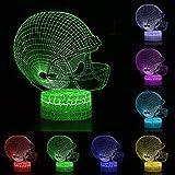 3D Veilleuse LED Lampe de Bureau 3D Rugby Football Lumière Télécommande Tactile Contrôle Enfants Cadeau Décoration de La Maison