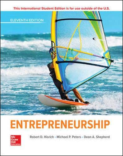 Compare Textbook Prices for Entrepreneurship 11 Edition ISBN 9781260565621 by Hisrich, Robert,Peters, Michael,Shepherd, Dean