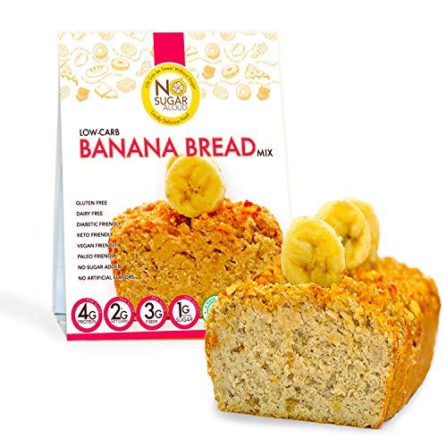No Sugar Aloud Low Carb Banana Bread Mix (No sugar added, gluten free, Vegan, Paleo, Keto )