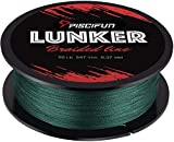 Piscifun Lunker Braided Fishing Line Green 6lb 300yards
