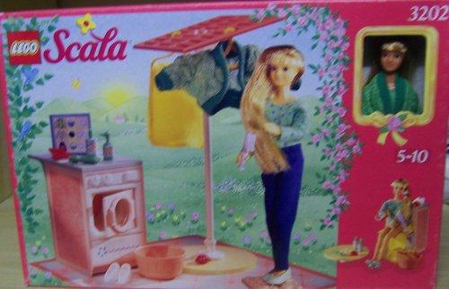 Lego 3202 Scala Hausfrau mit Waschmaschine und Wäscheleine