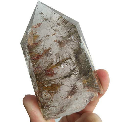 Natural Rutilated Quartz Wand Himalayan Healing Crystals and Stones Spiritual Meditation Minerals Gift Present Home Decoration