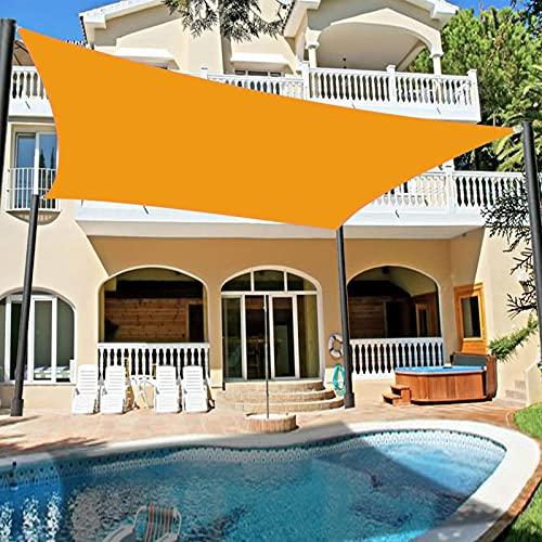 YUDEYU Cuadrangular Vela de Sombra Toldos Vela Solar Canopy jardín Patio Terraza Tela Impermeable Proteccion Solar Anti-UV Red de sombreado (Color : Yellow, Size : 3 x 4m)