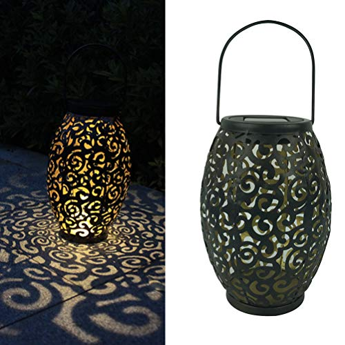 LEDMOMO Linterna Solar LED que cuelga la silueta marroquí Luces solares Auspicioso Nube Paisaje Iluminación exterior de jardín Lámpara impermeable para patio Patio