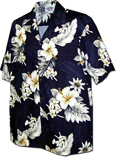 Pacific Legend Aloha Shirts The Luau in Navy L 410-3162