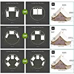 TentHome 4 seasons waterproof cotton bell tent with stove hole on the roof Glamping tent for camping Christmas party 8