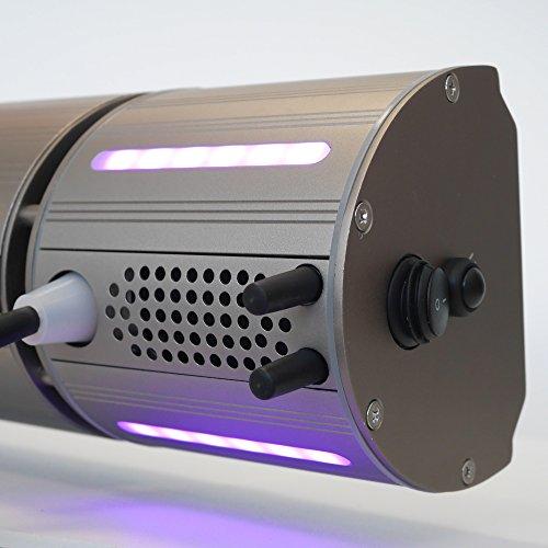 VASNER Appino BEATZZ Grau Grey Infrarotstrahler Terrassenstrahler dimmbar 2000 Watt mit Bluetooth, LED Backlight Licht, Musik-Lautsprecher Außenbereich mit Abdeckhaube AirCape M - 3