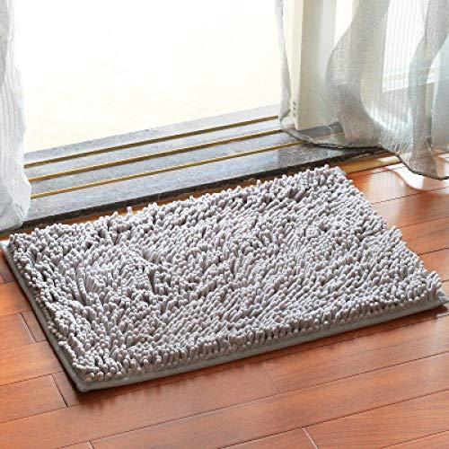 KEAINIDENI toiletmat 40x60/50x80/60x90CM badmat voor badkamertapijt tapijt toilet anti-uitglijden water absorberend comfortabel gebied tapijt Chenille 60cmX90cm Grijs