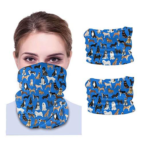 Nother Royal - Bandanas unisex de microfibra transpirable con diseño de perros de trabajo