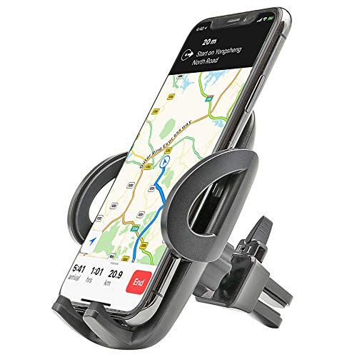 "Car Air Vent Phone Mount, EXSHOW Universal Car Vent Clip Holder for 3.5-6.0"" Smartphone, iPhone, Samsung Galaxy, Google Pixel, Nexus, OnePlus, Huawei, Sony etc (One-Hand-Operation)"