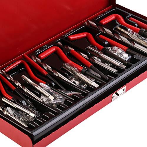 Bubbry Gewindereparaturwerkzeug Helicoil-Reparatursatz-Set für Werkstattwerkzeuge