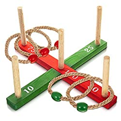 HILLINGTON GARDEN QUOITS - A simple and traditional game of skill and accuracy, lots of fun to play with family or friends of all ages and skill levels from beginners (keep short distance) to experts (increase distance to raise the difficulty) CONTEN...