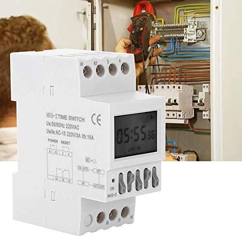 ZYY Interruptor de Control de Tiempo AC220V, 3A Guía de carril School...