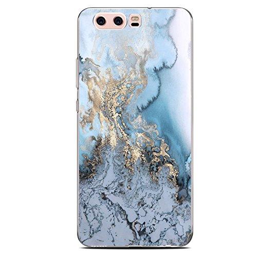 Funda Huawei P10 Jeper Carcasa Silicona Transparente Protector TPU Ultra-delgado Anti-Arañazos Sandía Mármol Case para Teléfono Huawei P10 Plus Caso Caja Estuche (Huawei P10, mármol 09)