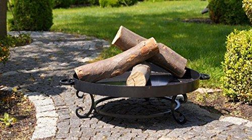 Brasero MALTA au charbon - noir sablé Ø : 80cm 15kg H: 20cm l:86cm