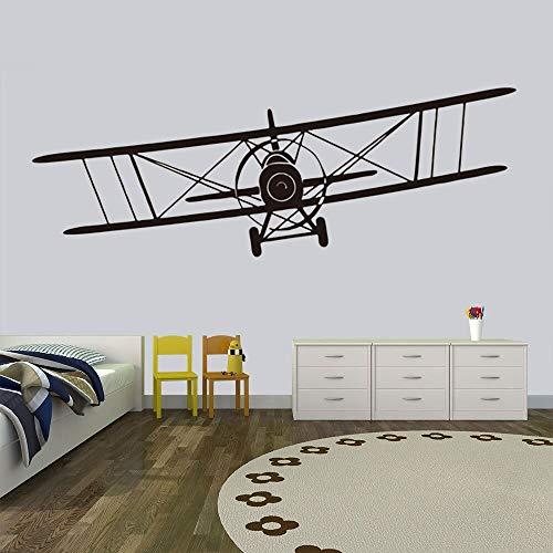 Ajcwhml Habitación de los niños decoración de Fondo Pegatina de Pared Mini avión Deslizante Retro Arte Mural calcomanías avión de Aire Pegatinas para el hogar 58X21CM
