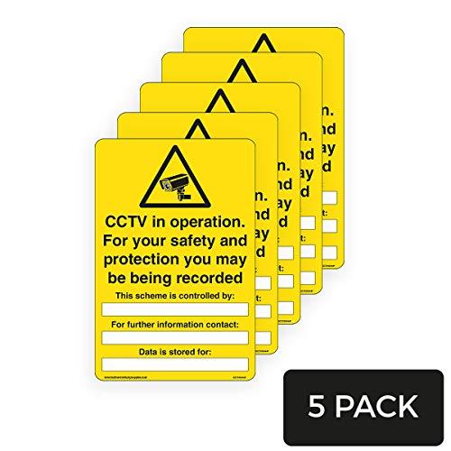 Señal de Seguridad CCTV en Funcionamiento para Escribir sobre la Seguridad –...