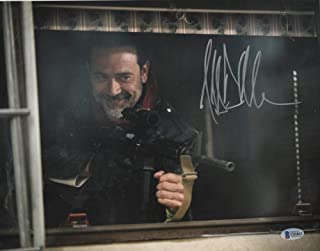 JEFFREY DEAN MORGAN SIGNED 11X14 PHOTO WALKING DEAD AUTOGRAPH NEGAN BECKETT N