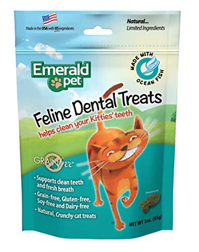 Smart n' Tasty Treats Cat océano Peces Dental sin Grano, 3-Ounce