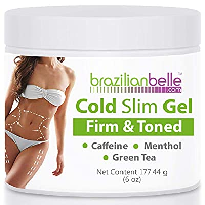 Cellulite Cold Slimming Gel with Caffeine and Green Tea Extract - Reduce Appearance of Cellulite, Stretch Marks, Firming and Toning, Improves Circulation - Quick Absorption- Cryo Gel (1 Jar) from Brazilian Belle