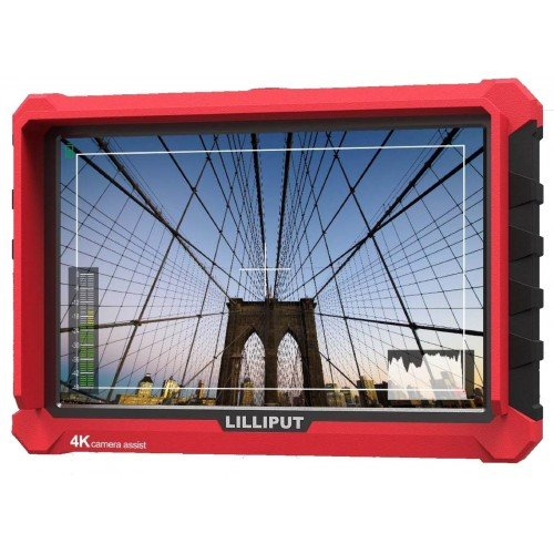 Lilliput A7S 7 '' On Camera Field Monitor Supports 4K HDMI Input Loop Output 1920x1200 Native Resolution 1000:1 Contrast 500cd/ Brightness with Pergear Magic Sticker