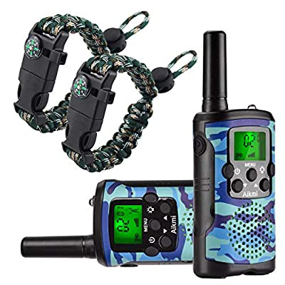 Aikmi Walkie Talkies for Kids 22 Channel 2 Way Radio 3 Miles Long Range Handheld Walkie Talkies Durable Toy Best Birthday Gifts for 6 Year Old Boys and Girls fit Adventure Game Camping