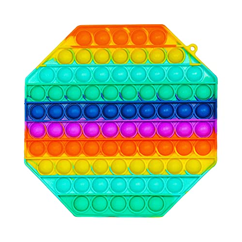 HiCollie Push Pop Bubble Fidget Sensory Toys|Push it Fidget Toys for Anxiety Relief| Kids Toys Poppet Fidget Toy|Squishy Dimple Fidget Popper Game for Autism|Adult Figit Toys (Octagon)