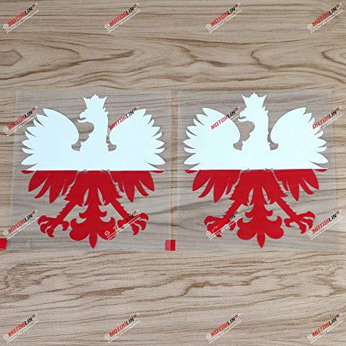 2 Stück Polska Adler Aufkleber Wappen Polen Herb Polska Polska Polska Polska Polska...