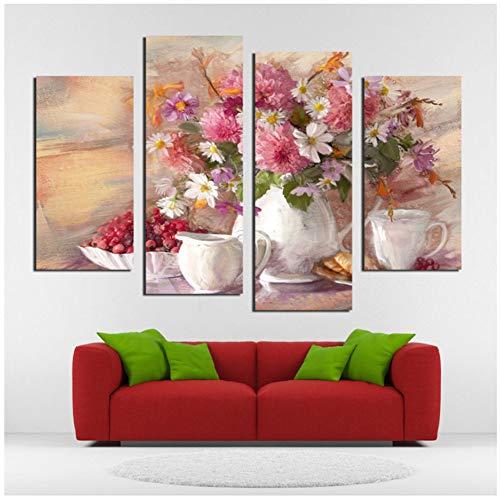 sjkkad Europese stijl stilleven bloem modern wandschilderij woonkamer keuken decoratie canvas schilderij op wand wooncultuur 40x80 40x100 cm geen lijst
