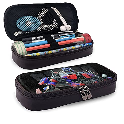 Transformers - Estuche de piel para lápices y artículos de papelería para oficina, portátil, caja de almacenamiento para cosméticos