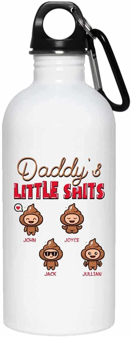 TeeWind Personalized Daddy's Four Little Shits Father's Funny Da Tulsa Mall Cheap mail order sales