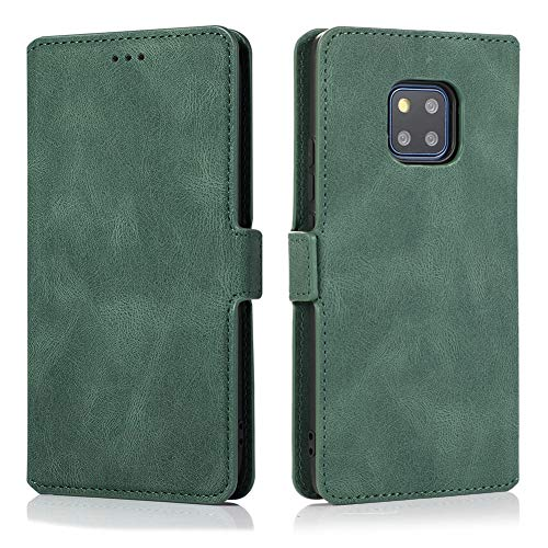 MOONCASE Huawei Mate 20 Pro Case, Flip Leather Magnetic Wallet Phone Case With Card Slot Pocket and Foldable Stand Protective Cover Case for Huawei Mate 20 Pro 6.39' -Green