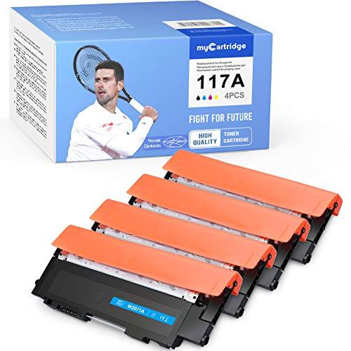 MyCartridge Tóner compatible con HP 117A W2070A para HP Color Laser MFP 179fwg 179fnw 178nwg 178nw HP Color Laser 150a 150nw (negro, cian, magenta y amarillo)