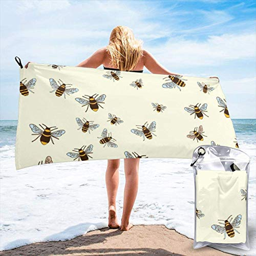 shenguang Honey Bee Printed Travel Quick Dry Bath Towels Sports Gym Microfiber Beach Towels Camping Swimming Compact Towel
