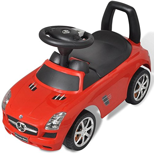 vidaXL Coche Correpasillos de Niños Mercedes Benz Rojo Coche Infantil Juguete