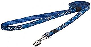 Rogz Fancy Dog Lead, Navy Zen, Medium