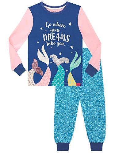 Harry Bear Pijamas para niñas Sirena Ajuste Ceñido Azul 5-6 Años