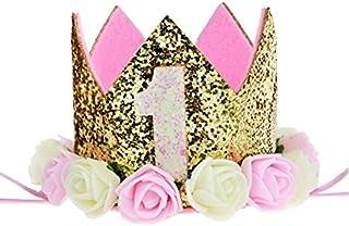 お誕生日の飾り プリンセスクラウン バースデークラウン 1歳 ハッピーバースディー ゴムバンド 王女様