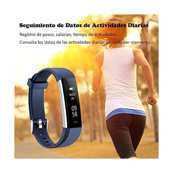 COOLEAD Pulsera Actividad Mujer Hombre Reloj Inteligente Podómetro Monitor de Actividad Impermeable IP67 Fitness Tracker… 5