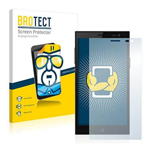 BROTECT Schutzfolie kompatibel mit Simvalley Mobile SPX-34 (2 Stück) klare Bildschirmschutz-Folie