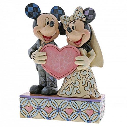 Mickey and Minnie bride and groom figurine