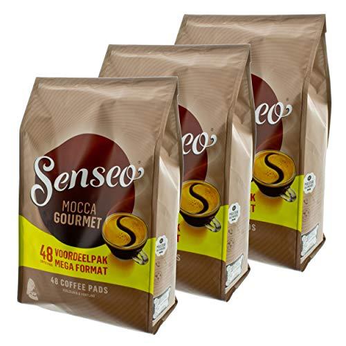 Senseo Kaffeepads Mocca Gourmet, Frisch & Intensiv, Kaffee für Kaffepadmaschinen, 144 Pads