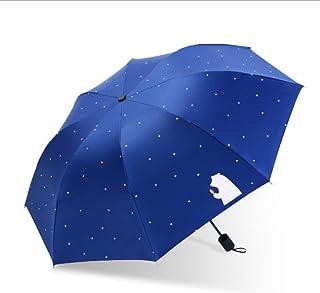 Cartoon Double-Layer Umbrella, Windproof Folding Upside Down, Automatic Standing Rainproof Car Umbrella, UV Protection