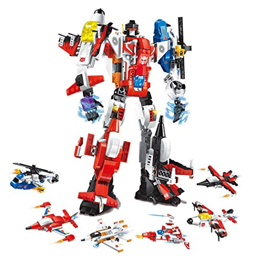 Why Choose Troll Tree Kids 6 in 1 Building Deformation Robot Block Toys Transforming Toys Robot Mode...