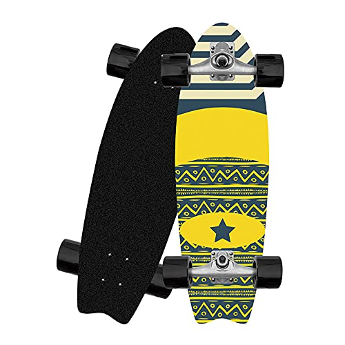 TTYY Skateboard Komplett Deck für Kinder Jugendliche & Erwachsene Anfänger 32 x 10 Zoll Komplettboard 8-lagiges Ahorn Doppel-Kick Cruiser Surfskate mit ABEC-9-Kugellagern und 78A PU Rollen Longboard