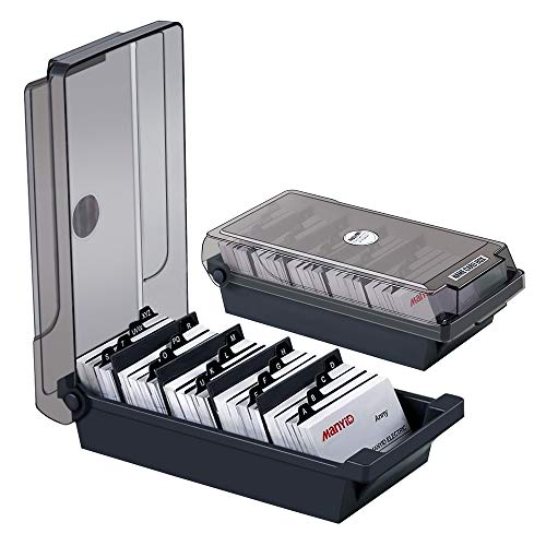 MyLifeUNIT Business Card Holder, Name Card Organizer with Dividers and Index Tabs (500 Cards Capacity)