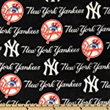 MLB Fleece New York Yankees Blue/Red/White, Fabric by the Yard